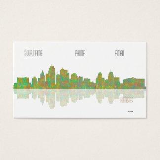Kansas skyline business card