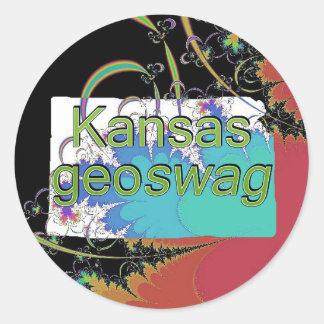 Kansas State Geocaching Supplies Stickers Geoswag