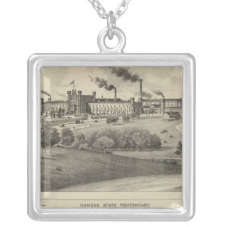 Kansas State Penitentiary Silver Plated Necklace
