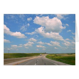 Kansas Turnpike Through Flint Hills Card