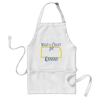 Kansas - Wild and Crazy Standard Apron