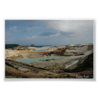 Kaolin Chalk Mine Poster