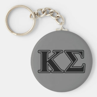 Kappa Sigma Black Letters Key Ring