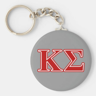 Kappa Sigma Red Letters Key Ring