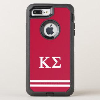 Kappa Sigma   Sport Stripe OtterBox Defender iPhone 8 Plus/7 Plus Case