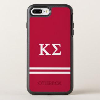 Kappa Sigma   Sport Stripe OtterBox Symmetry iPhone 8 Plus/7 Plus Case
