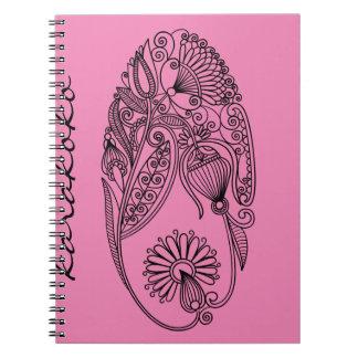 Karakoko Floral Photo Notebook (80 Pages B&W)