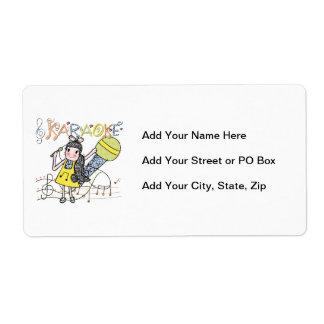 Karaoke Girl Shipping Label