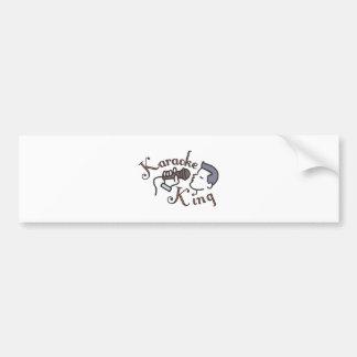 Karaoke King Bumper Sticker