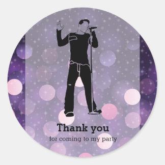 Karaoke party classic round sticker