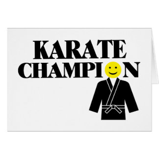 Karate Champion Smiley Face Card
