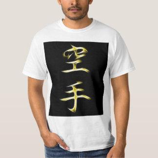 Karate Japanese Kanji Calligraphy Symbol T-Shirt