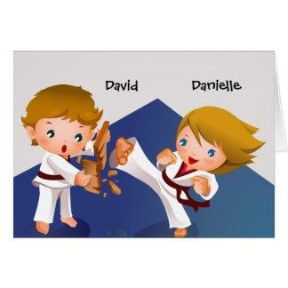 Karate Kids Thank You Notecard