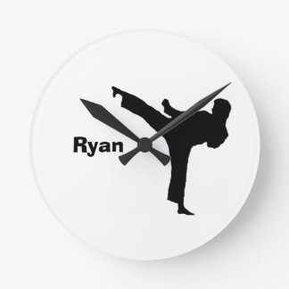 Karate Personalized Clock