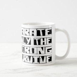 Karate Survive Basic White Mug