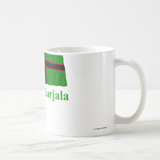 Karelia Waving Flag with Name in Finnish Basic White Mug