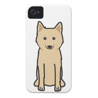 Karelo-Finnish Laika Dog Cartoon iPhone 4 Case-Mate Cases