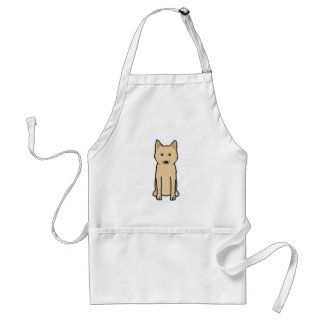 Karelo-Finnish Laika Dog Cartoon Standard Apron
