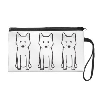 Karelo-Finnish Laika Dog Cartoon Wristlet