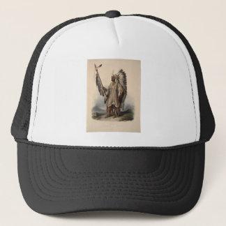 Karl Bodmer - A Mandan chief Trucker Hat
