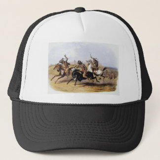 Karl Bodmer - Horse Racing of the Sioux Trucker Hat