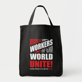 Karl Marx Workers of the World Unite Tote Bag