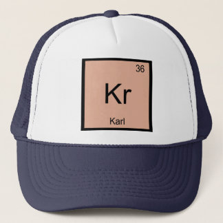 Karl  Name Chemistry Element Periodic Table Trucker Hat