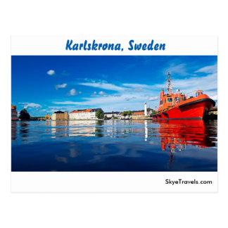 Karlskrona, Sweden Postcard