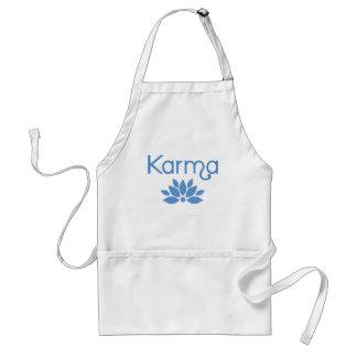 Karma in Blue with Lotus Flower Tshirt Standard Apron