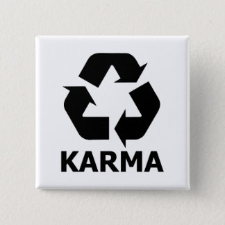 Karma Recycle 15 Cm Square Badge