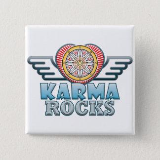 Karma Rocks 15 Cm Square Badge