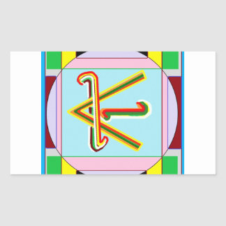 KARUNA Reiki : Shanti Peace be with all Rectangular Stickers