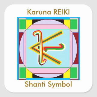 KARUNA Reiki Shanti Peace be with all Square Sticker