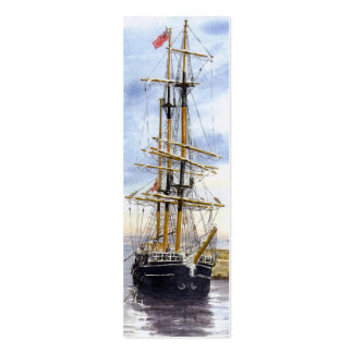 'Kaskelot Enters Charlestown Harbour' Bookmark Business Cards