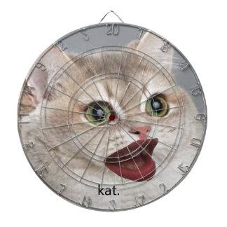 kat dartboard with darts