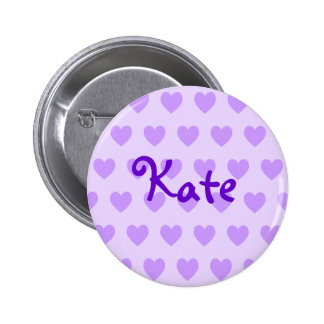 Kate in Purple 6 Cm Round Badge