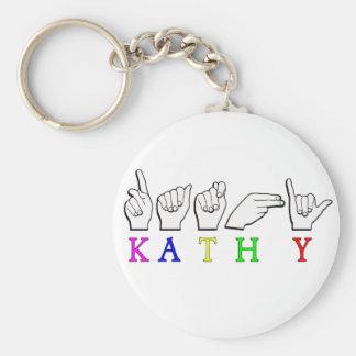 KATHY NAME SIGN FIGNGERSPELLED KEYCHAINS