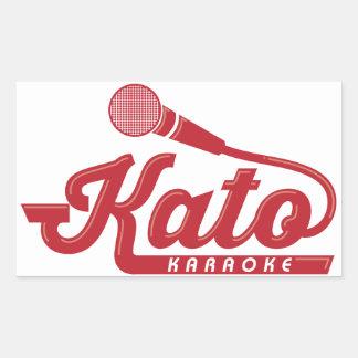Kato Karaoke Logo Rectangular Sticker