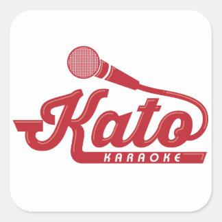 Kato Karaoke Logo Square Sticker