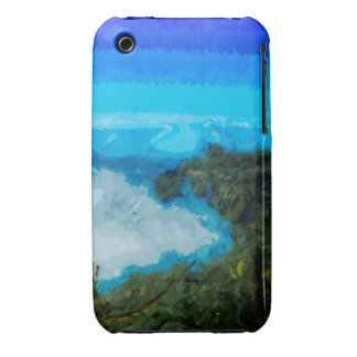 Kauai Na Pali Coast From Koke'e Abstract iPhone 3 Covers