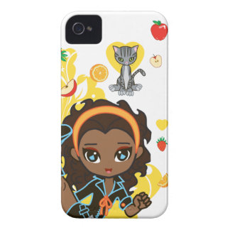 Kawaii Aisha the African American Chibi 9700/9780 Case-Mate iPhone 4 Case