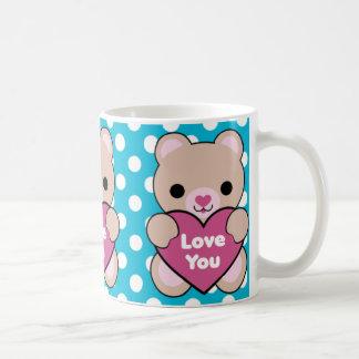 Kawaii Bear Heart Love You Mug