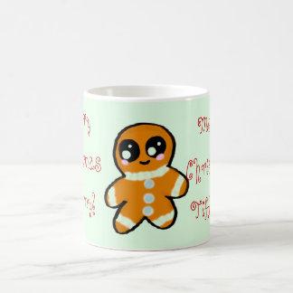 Kawaii Christmas Gingerbread Man Coffee Mug