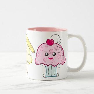 Kawaii Cupcakes Two-Tone Mug