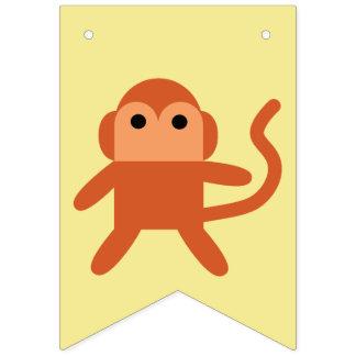 Kawaii Cute Cheeky Monkey Bunting