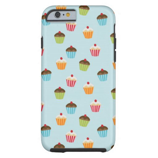 Kawaii cute girly cupcake cupcakes foodie pattern iPhone 6 case