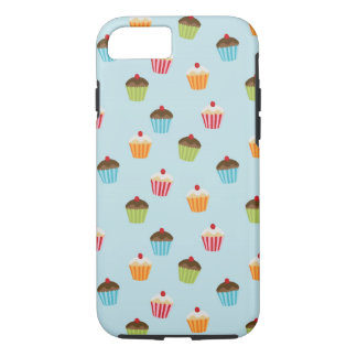 Kawaii cute girly cupcake cupcakes foodie pattern iPhone 7 case
