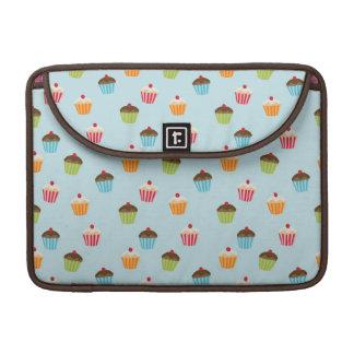 Kawaii cute girly cupcake cupcakes foodie pattern sleeve for MacBook pro