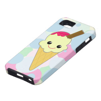 Kawaii Cute Ice Cream Cone Cartoon Vanilla iPhone 5 Cases