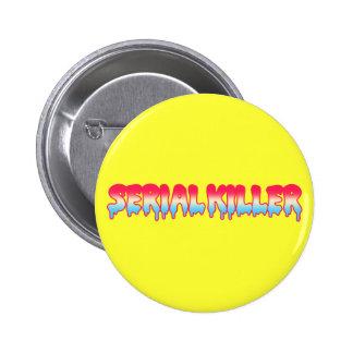 Kawaii Cute Serial Killer Melty Ombre Pastel Button